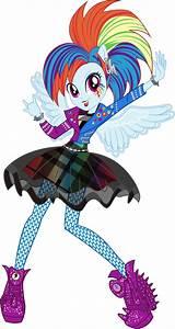 Rockin' Hair Rainbow Dash Vector by icantunloveyou on ...