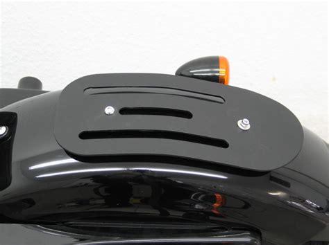 harley davidson sportster  solo luggage rack formed steel black finish magnum mage