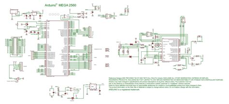 The Official Arduino Mega Schematics Diagram Core
