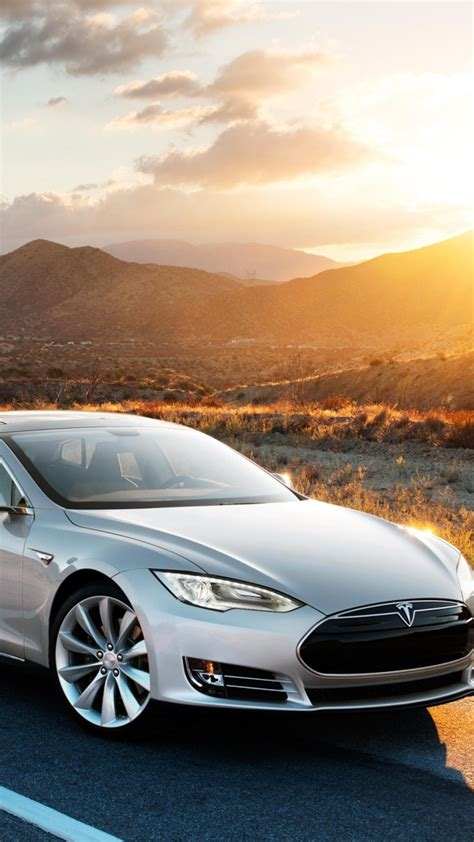 wallpaper tesla model  electric coupe luxery sunset