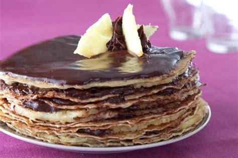 la cuisine au beurre recette de gâteau de crêpes chocolat ananas facile et rapide