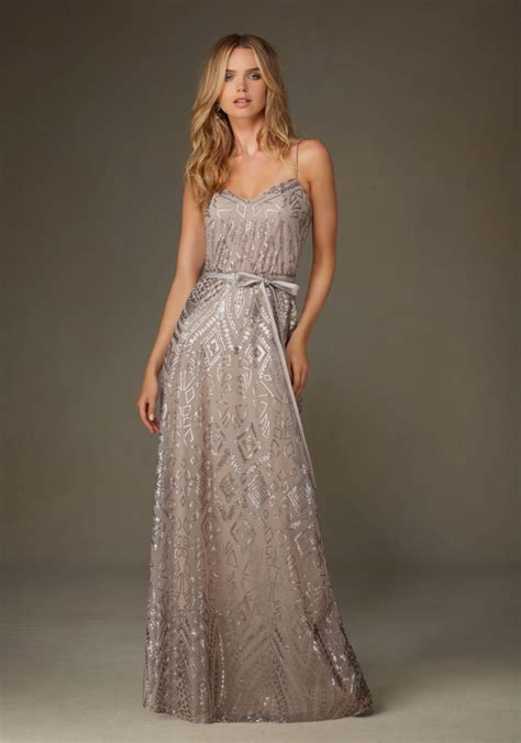 sequin  mesh bridesmaid dress style  morilee