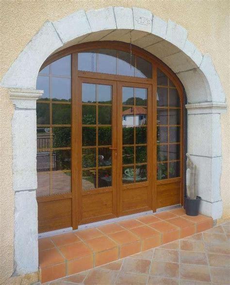 porte fenetre ouverture exterieure porte fen 234 tre cintr 233 e pvc imitation bois un projet de menuiseries 224 r 233 nover chiffrez le sur