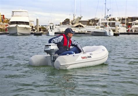 Inflatable Boat Tender by Large Displacement Engines 2 Stroke Large Free Engine