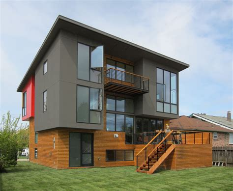 Popular Paint Colors For Living Room by Book Loft Modern Exterior Seattle By Cast Architecture