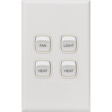 hpm fan light heat 2 4 function switch bunnings warehouse