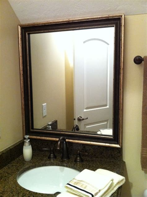 Traditional Bathroom Mirrors by Mirror Frame Kit Traditional Bathroom Mirrors Salt