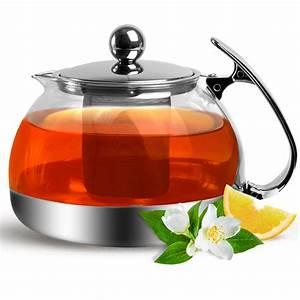 Teekanne Aus Glas Mit Sieb : teekanne glas 1 2 l edelstahl sieb filter deckel tee kanne ~ Michelbontemps.com Haus und Dekorationen