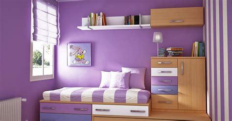 contoh kombinasi cat warna ungu  kamar minima