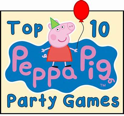 Peppa Pig Games Party Birthday Coloring Pages
