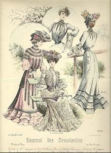 french belle epoque fashion plate Belle epoque clothes