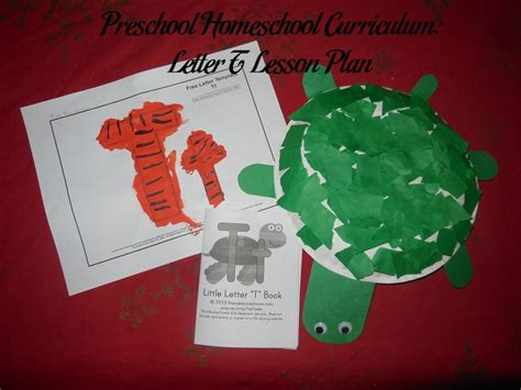 preschool homeschool curriculum letter  lesson plan