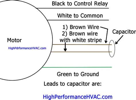 How Wire Run Capacitor Motor Blower Condenser
