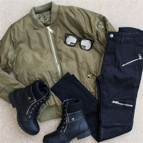 Jacket olive green bomber jacket bomber jacket down jacket ootd off duty casual ootn ...