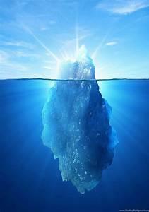 Iceberg Underwater Diagram Wallpaper  Desktop Background