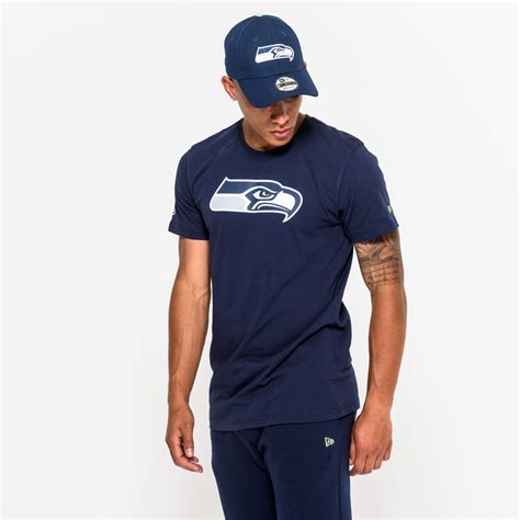 seattle seahawks team logo blue tee  era
