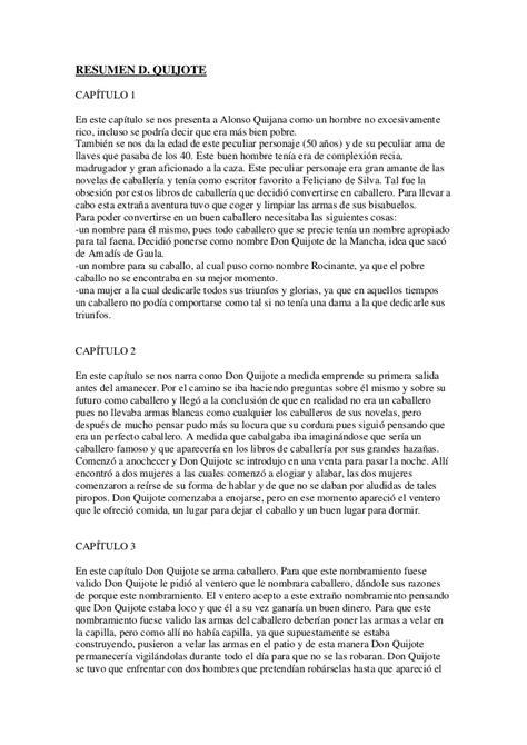 Resumen Cap 1 Don Quijote by Resumen D Quijote
