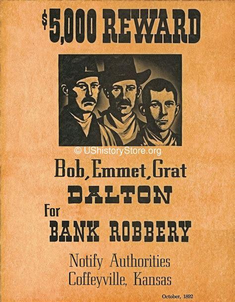 Dalton Brothers $5,000 Reward Wanted Poster 1892 - store ...