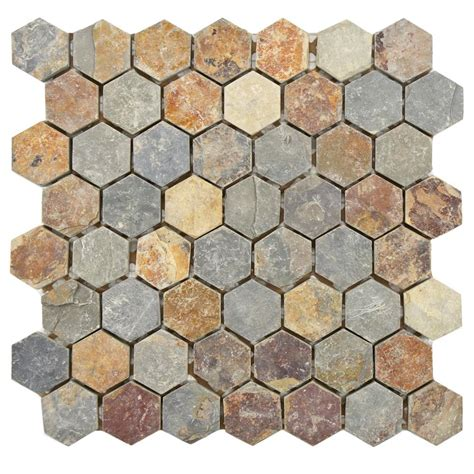 home depot merola hex tile merola tile crag hexagon sunset 11 1 8 in x 11 1 8 in x
