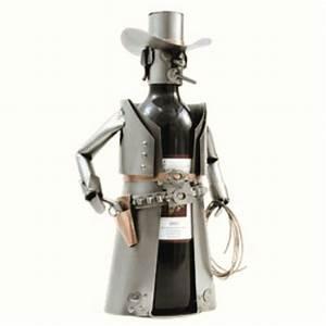 Porte Bouteille De Vin : porte bouteille vin de table cowboy en m tal design hinz ~ Dailycaller-alerts.com Idées de Décoration