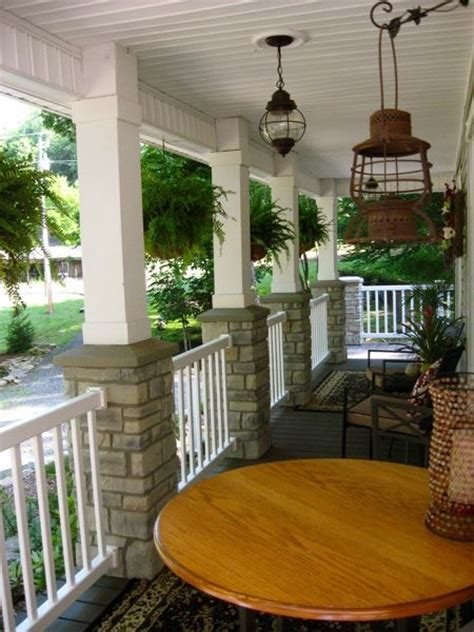 porch column ideas Porch Eclectic with none