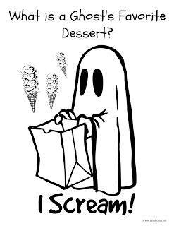 halloween joke coloring page ghost joke  printables