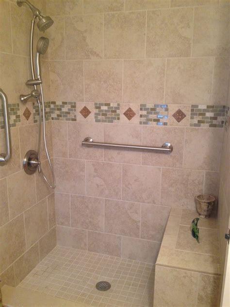 santa tile shower traditional bathroom