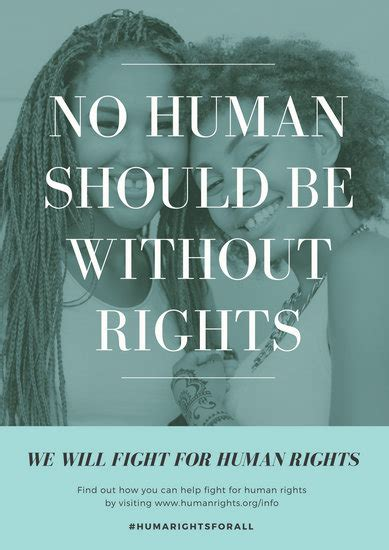 customize  human rights poster templates  canva