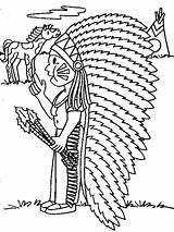 Coloring Pages Indian Indians Coloringpages1001 sketch template