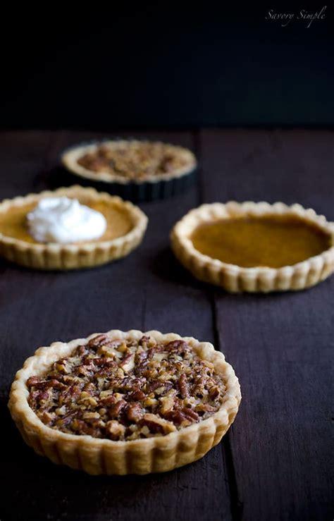thanksgiving pie tarts pumpkin pecan sweet potato