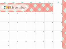 Cute September 2018 Printable Calendar – Printable 2018
