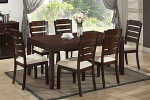 elsa brown wood 5 piece modern dining set see white With modern wood dining room sets