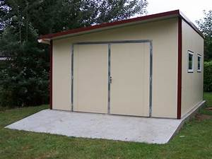 garage metal quotalbertvillequot 20m2 5 x 4 x 262 m 040 With garage en panneau sandwich