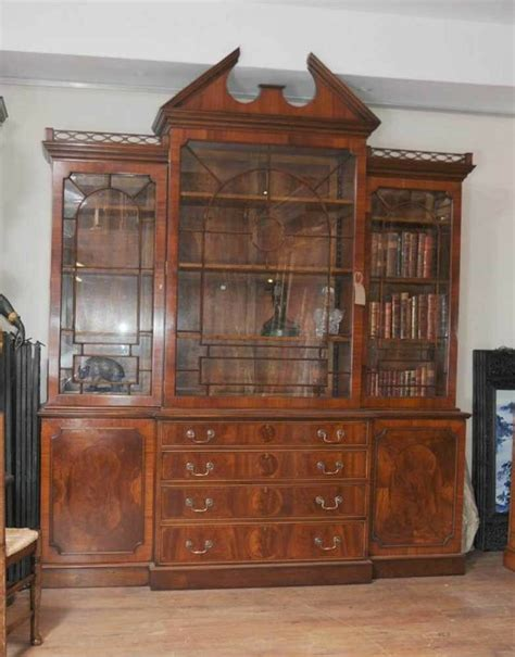 Furniture Bookcases by Mahogany Breakfront Bookcase Bookcases