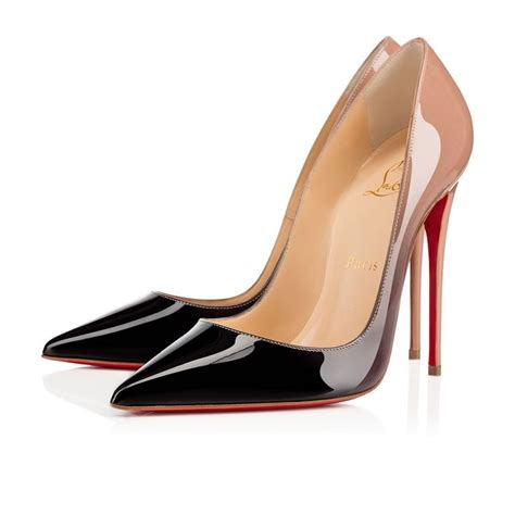siege social louboutin so kate patent degrade black patent shoes