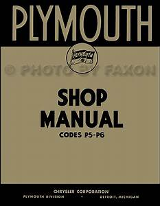 1938 Only Plymouth Shop Manual 38 P5 P6 Repair Service
