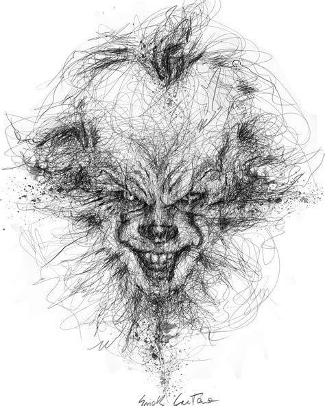 Horror Movie Character Drawings