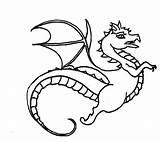 Dragon Coloring sketch template