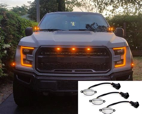 Raptor Style Grill Amber Light Kit Xlt Xl Fx4 Truck Lights