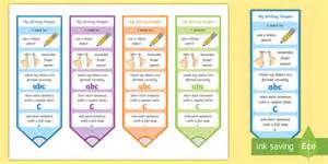 * New * Cfe Early Level Ready For Writing Editable Bookmarks