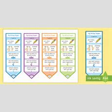 * New * Cfe Early Level Ready For Writing Bookmarks  Targets, Big, Tools