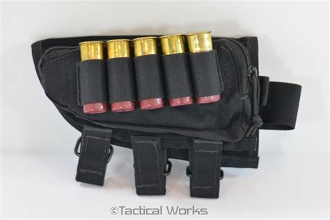 tactical operations ammo cheek pad shotgun loops black left range accessories