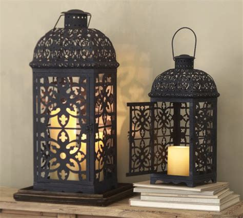 pottery barn outdoor lanterns pottery barn mallory pierced lantern