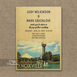 knoxville tennessee wedding invitation printed nifty With wedding invitations knoxville