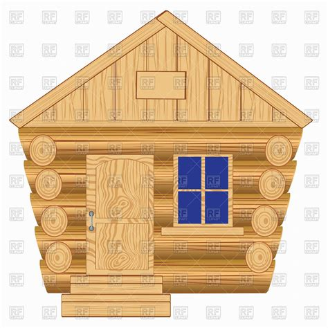 wooden house front view vector image  architecture