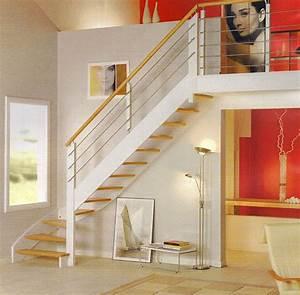 Escalier Bois Blanc : les escaliers sopromat ~ Melissatoandfro.com Idées de Décoration