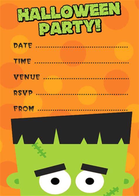 frankenstein halloween party invitation template
