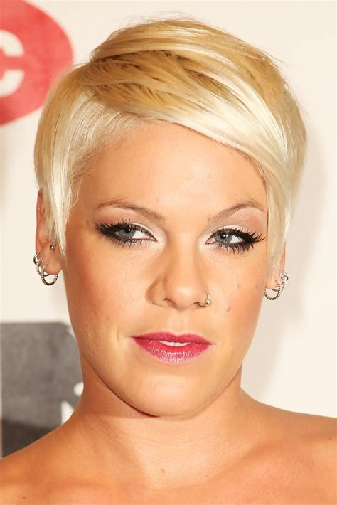 Pink Short Straight Cut Pink Short Hairstyles Looks