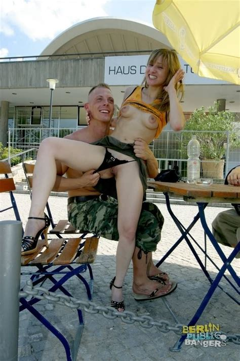Naughty German Teen In Skirt Fucking On Public Outside