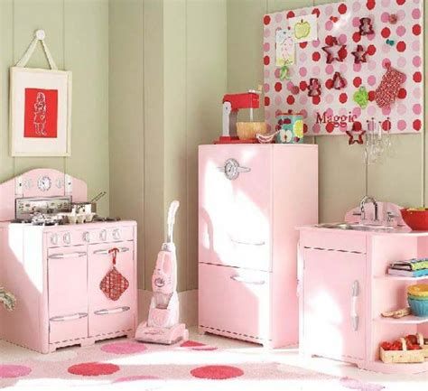 diseno de cocina de color rosa  ninas como disenar